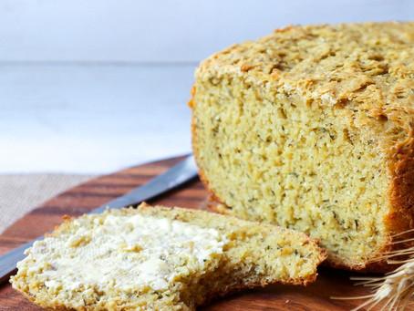 Fluffy Herbed Pumpkin Bread Loaf