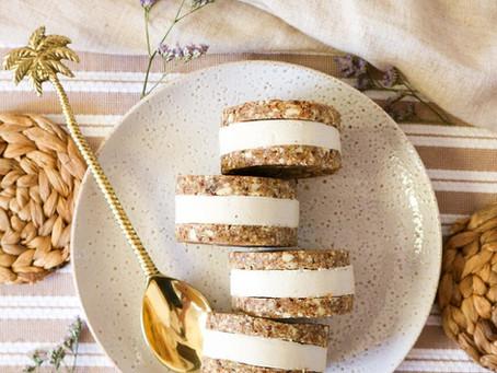 Vanilla & Coffee Ice-cream Sandwiches