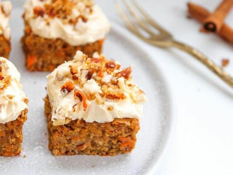 White Chocolate Chip Carrot Cake Blondies