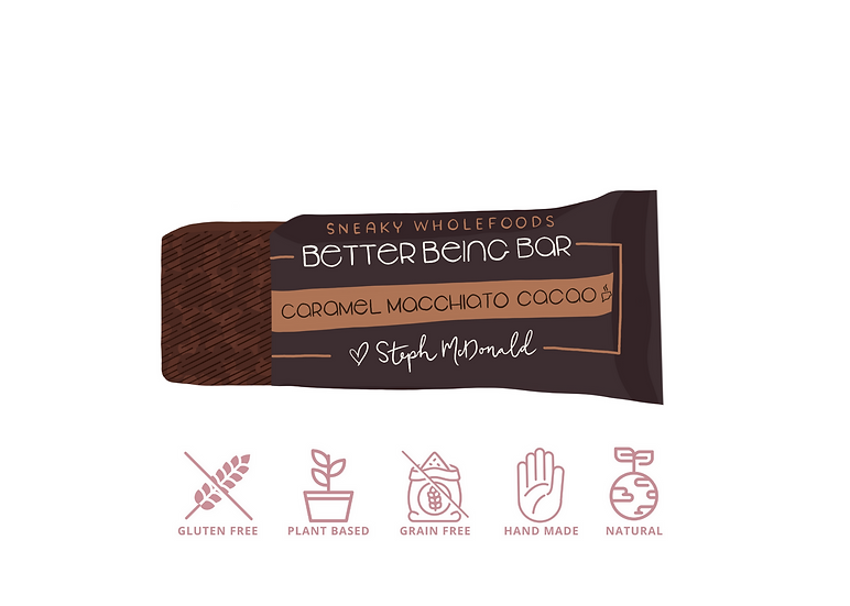 Caramel Macchiato Cacao Better Being Bar 60g