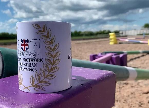 Fancy Footwork Equestrian Poleympics mugs