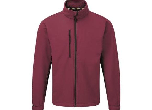 EQB Unisex Burgundy Soft Shell Jacket