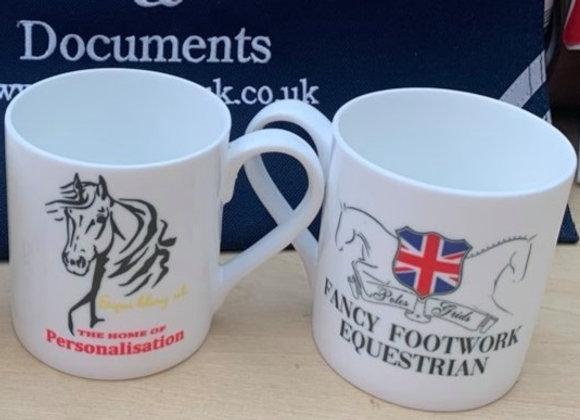 Fancy Footwork Equestrian mugs