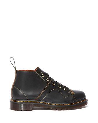 Dr. Martens Church Monkey Boots - Black Vintage Smooth