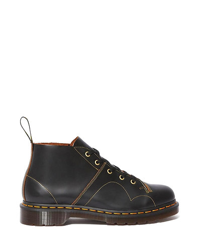 Dr. Martens Church Monkey Boots - Black Vintage Smooth