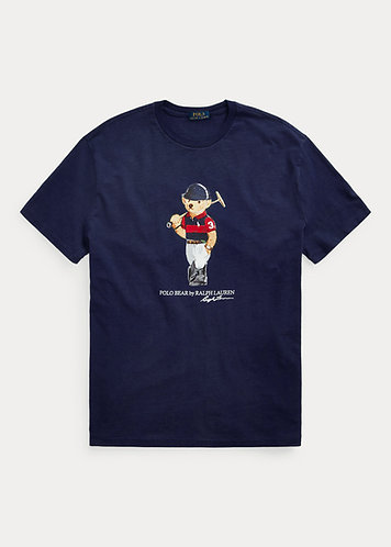 Polo RL Classic Fit Polo Bear Jersey Tee - Cruise Navy
