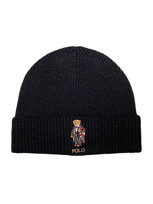 Polo RL - Solid Toggle Bear Cuff Hat - Black
