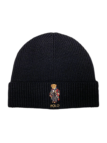 Polo RL - Solid Toggle Bear Cuff Hat - Black