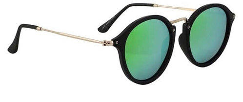 Glassy Eyewear Klein Polarized Black/Green Mirror