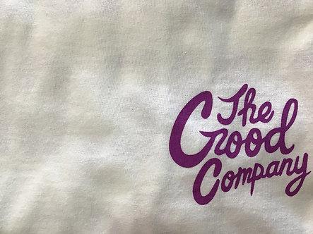 The Good Company - Logo Tee - White/Purple