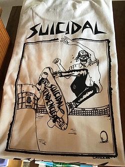 Suicidal Skates Tee Pool Skater White