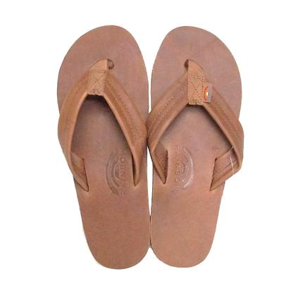 Rainbow 1-Layer Premier Leather Sandal (Tan)