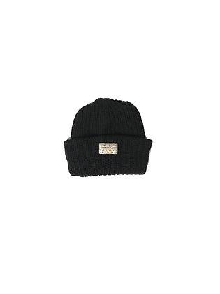 Seams Knit Beanie - Black