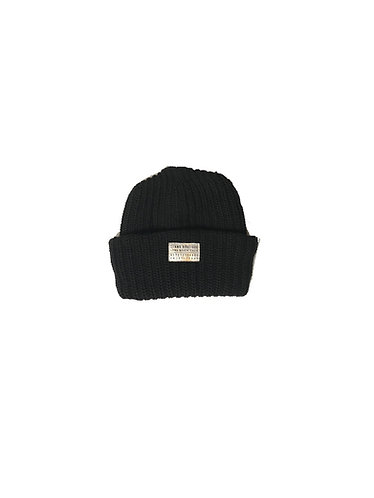 Seams Knit Beanie - Black