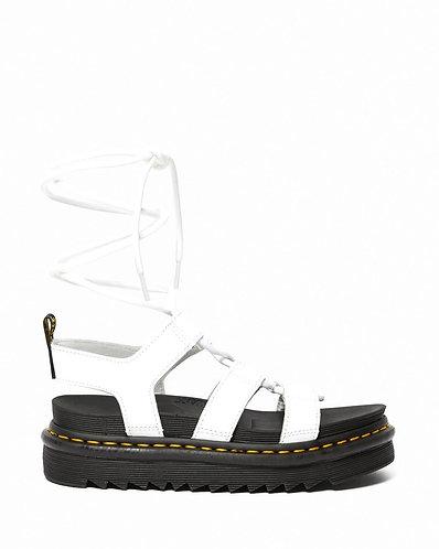 Dr. Martens Nartilla Leather Gladiator Sandal - White