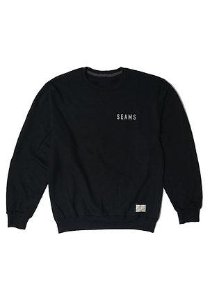 Seams Crewneck Fleece - Black