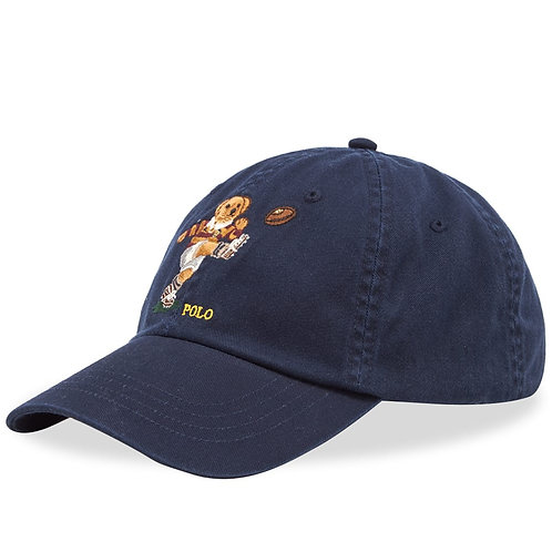 Polo RL Rugby Bear Chino Ball Cap - Aviator Navy