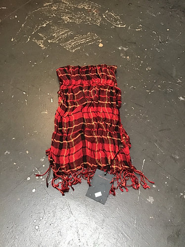 Nudie Jeans Scarf - Check Red