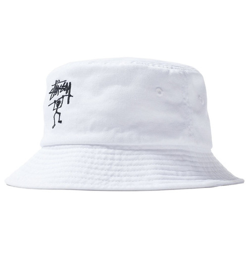 075147e1f5a20 Stussy Warrior Man Bucket Hat (White)