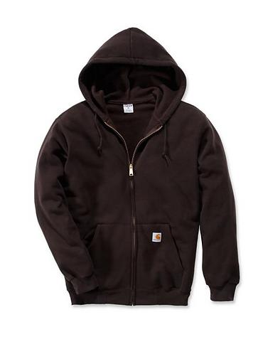 Carhartt Midweight Zip Sweatshirt - Dark Brown