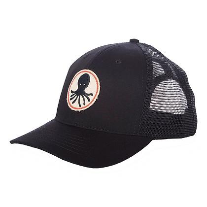 Mollusk Octopus Patch Trucker Hat - Black