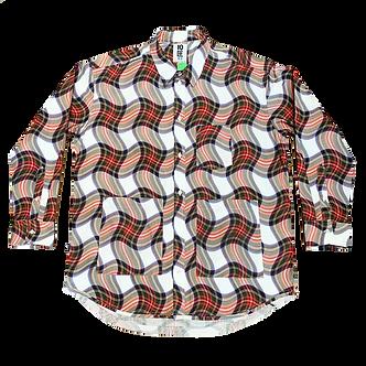 Tenbox Mushroom Shirt - Red Check