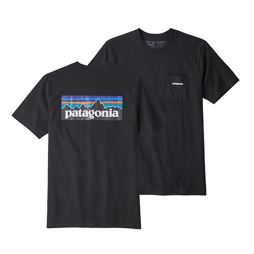 Patagonia Men's P-6 Logo Pocket Responsibili-Tee® - BLK [39178]
