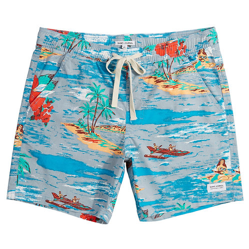Banks Vacation Elastic Boardshort - Glacier Blue