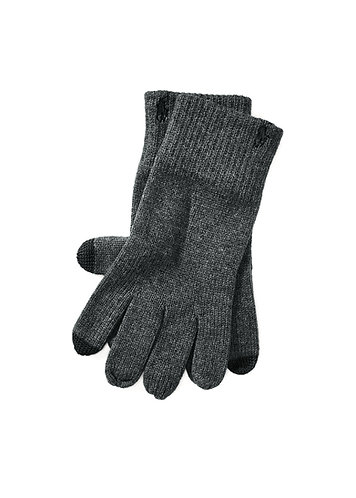 Polo RL Cotton-Blend Touch Gloves - Charcoal