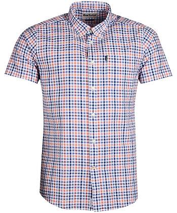 Barbour Seersucker S/S Shirt - Light Orange