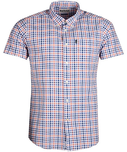 Barbour Seersucker S/S Shirt - Light Orange