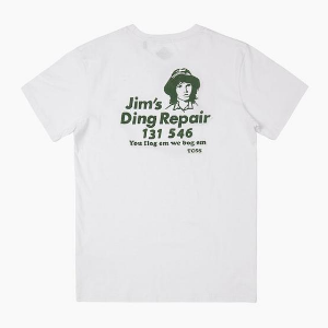 TCSS Jim's Ding Repair Tee - White