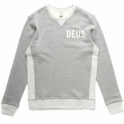 Deus Dallas Contrast Crew - Grey Marle