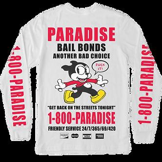 Paradise Bailbonds Longsleeve Tee - White