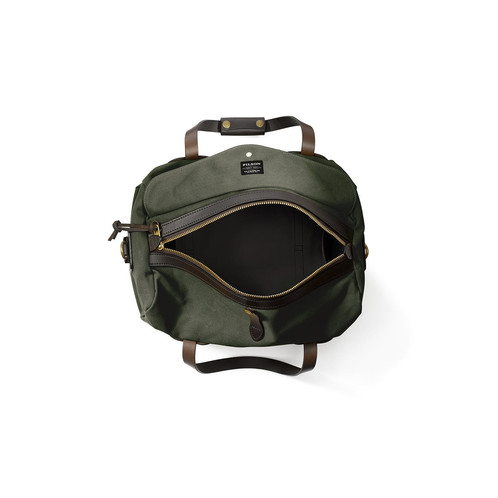 4d08016834c Filson Small Rugged Twill Duffle - Otter Green  11070220 .   350.00. Solid  brass zipper closure custom cut at Filson with storm flap for added  security ...
