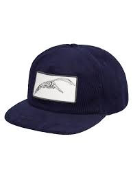 Mollusk Pelican Patch Corduroy Hat - Navy