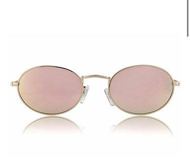 Gassy Eyewear Campbell Polarized Gold/Pink Mirror