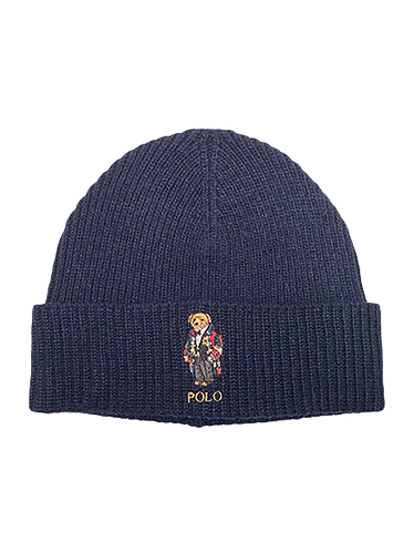 Polo RL - Solid Toggle Bear Cuff Hat - Aviator Navy