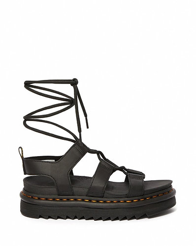 Dr. Martens Nartilla Leather Gladiator Sandal - Black