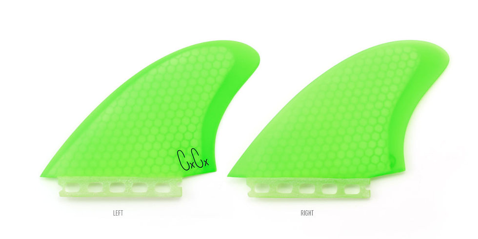 Captain Fin Co. Chris Christenson Twin Fin Set - Green