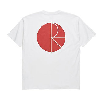 Polar Fill Logo Tee - White/Red