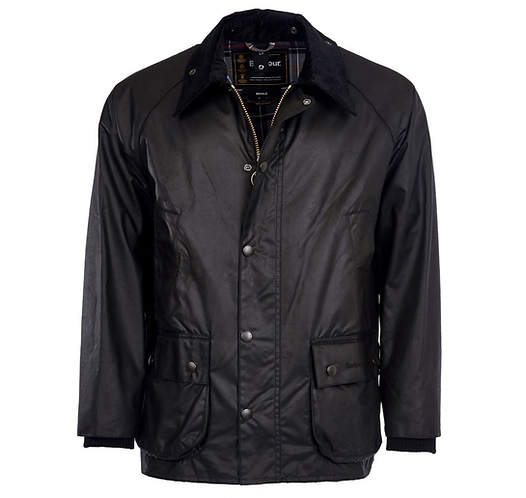 Barbour Beaufort Wax Jacket - Black
