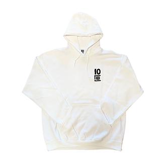 Tenbox Logo Hoodie (White)