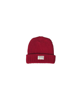 Seams Knit Beanie - Red