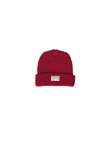 Seams Knit Beanie - Red