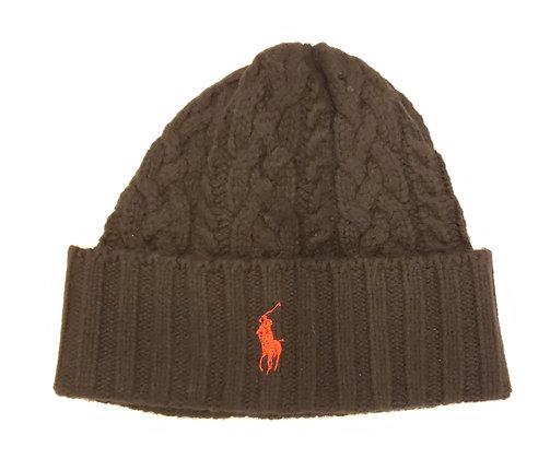 Polo RL - Signature Cuff Wool Beanie - Black