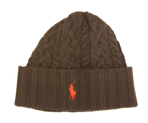 Polo RL - Signature Cuff Wool Beanie - Black