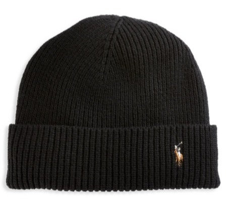 Polo RL - Men's Signature Cold Weather Cuff Hat - Black