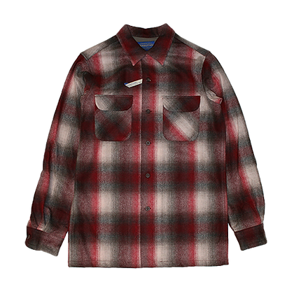 Pendleton Vintage Fit Rider Shirt (Grey/Red Ombre)