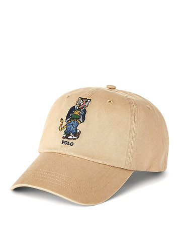 Polo RL Tiger Chino Ball Cap - Luxury Tan